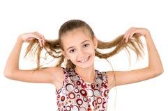 Το κορίτσι με το χαλαρό τρίχωμα Στοκ φωτογραφία με δικαίωμα ελεύθερης χρήσης