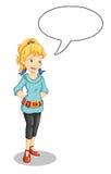 το κορίτσι μιλά ελεύθερη απεικόνιση δικαιώματος