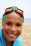 το κορίτσι παραλιών η θάλα&s στοκ φωτογραφίες