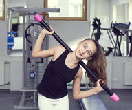 το κορίτσι πηγαίνει αθλη&ta Στοκ Εικόνες