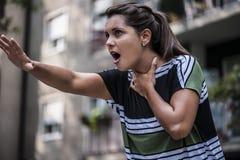 Το κορίτσι πνίγει Στοκ εικόνες με δικαίωμα ελεύθερης χρήσης