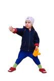 Το κορίτσι που κρατά ένα πότισμα μπορεί υπό εξέταση Στοκ Εικόνα