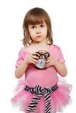 το κορίτσι ρολογιών συν&al Στοκ Φωτογραφίες