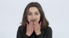 Το κορίτσι στέλνει τα φιλιά αέρα απόθεμα βίντεο