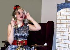 Το κορίτσι στην εικόνα Στοκ φωτογραφία με δικαίωμα ελεύθερης χρήσης