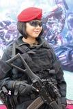 Το κορίτσι στρατού Στοκ εικόνα με δικαίωμα ελεύθερης χρήσης