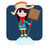 Το κορίτσι συμπαθεί το χειμώνα Στοκ Εικόνες