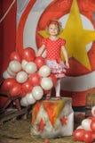 Το κορίτσι τσίρκων Στοκ Εικόνες