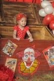 Το κορίτσι τσίρκων Στοκ Εικόνα