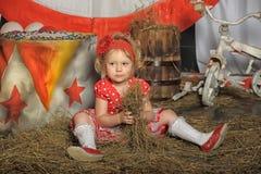 Το κορίτσι τσίρκων Στοκ Φωτογραφία