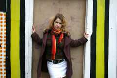 το κορίτσι χρωμάτισε πλησ Στοκ φωτογραφίες με δικαίωμα ελεύθερης χρήσης