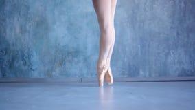Το κορίτσι το ballerina σε ένα όμορφο κοστούμι Όμορφος εκφραστικός χορευτής μπαλέτου που χορεύει στο στούντιο Βλαστός φωτογραφιών φιλμ μικρού μήκους