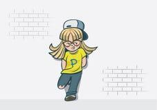 Το κορίτσι Hipster στέκεται Στοκ εικόνες με δικαίωμα ελεύθερης χρήσης