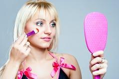 Το κορίτσι makeup στοκ εικόνες