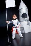 το κοστούμι αγοριών αστροναυτών απομόνωσε το λευκό Στοκ φωτογραφία με δικαίωμα ελεύθερης χρήσης