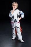 το κοστούμι αγοριών αστροναυτών απομόνωσε το λευκό Στοκ Φωτογραφία