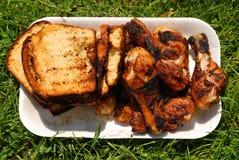 το κοτόπουλο ψωμιού έψησ&e Στοκ Φωτογραφία
