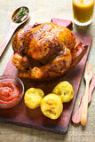 το κοτόπουλο έψησε το σύ&n Στοκ φωτογραφία με δικαίωμα ελεύθερης χρήσης