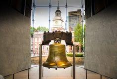 Το κουδούνι ελευθερίας - ένα εικονικό σύμβολο της αμερικανικής ανεξαρτησίας, που βρίσκεται στη Φιλαδέλφεια, Πενσυλβανία, ΗΠΑ στοκ εικόνες