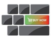 το κουμπί αγοράζει τώρα Στοκ Εικόνα