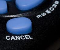 το κουμπί ακυρώνει Στοκ Εικόνα