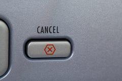 το κουμπί ακυρώνει στοκ εικόνα με δικαίωμα ελεύθερης χρήσης