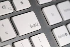 το κουμπί διαγράφει το πληκτρολόγιο Στοκ Εικόνες