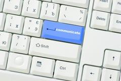 το κουμπί επικοινωνεί Στοκ Εικόνες