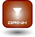 το κουμπί πίνει την πυράκτω&s Στοκ εικόνα με δικαίωμα ελεύθερης χρήσης