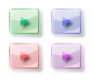 Το κουμπί παιχνιδιού στο άσπρο υπόβαθρο Στοκ φωτογραφία με δικαίωμα ελεύθερης χρήσης