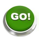 το κουμπί πηγαίνει πράσιν&omicron Στοκ Εικόνες