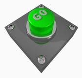 το κουμπί πηγαίνει Στοκ Εικόνες