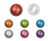 το κουμπί στιλπνό αναζωο&gam Στοκ Εικόνα