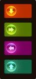 το κουμπί χρωμάτισε υαλώδη Στοκ εικόνα με δικαίωμα ελεύθερης χρήσης