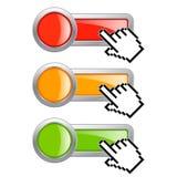 το κουμπί χτυπά εδώ Στοκ εικόνα με δικαίωμα ελεύθερης χρήσης