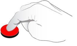το κουμπί χτυπά Στοκ Εικόνα