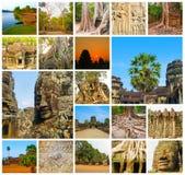 Το κολάζ από τις εικόνες Angkor Wat στην Καμπότζη Στοκ φωτογραφίες με δικαίωμα ελεύθερης χρήσης