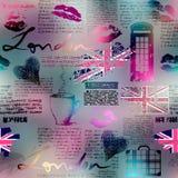 Το κολάζ στο ύφος του Λονδίνου ελεύθερη απεικόνιση δικαιώματος
