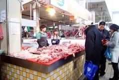 το κρέας αγοράς της Κίνας Στοκ Εικόνες