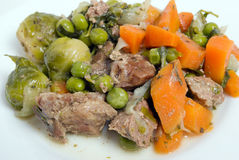 το κρέας μαγείρεψε σε κατσαρόλα το λαχανικό Στοκ Φωτογραφία