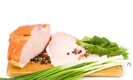 το κρέας που καπνίζεται νόστιμο χωρίζει κατά διαστήματα Στοκ εικόνα με δικαίωμα ελεύθερης χρήσης