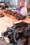Το κρέας ροπάλων πωλεί επάνω στην αγορά Στοκ Εικόνα