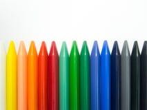 Το κραγιόνι Fullcolor οριζόντιο ευθυγραμμίζει Στοκ Φωτογραφία