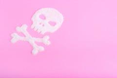 Το κρανίο φιαγμένο από ζάχαρη θανατώσεις Στοκ Εικόνες