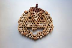 Το κρασί βουλώνει την αφηρημένη σύνθεση κολοκύθας αποκριών στοκ εικόνα με δικαίωμα ελεύθερης χρήσης