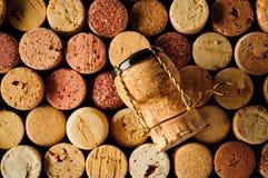 Το κρασί βουλώνουν και ο φελλός σαμπάνιας Στοκ φωτογραφία με δικαίωμα ελεύθερης χρήσης