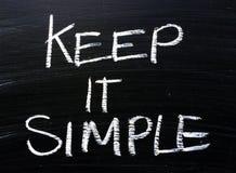 Το κρατήστε απλό μήνυμα σε έναν πίνακα Στοκ φωτογραφία με δικαίωμα ελεύθερης χρήσης