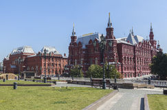 Το κρατικό ιστορικό μουσείο στη Μόσχα Στοκ Εικόνες