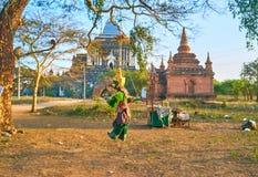 Το κρεμασμένο βιρμανός παιχνίδι ύφους σε Bagan, το Μιανμάρ Στοκ φωτογραφία με δικαίωμα ελεύθερης χρήσης