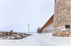 Το Κρεμλίνο είναι ένα φρούριο στο ιστορικό κέντρο πόλεων Nizhny Novgorod στοκ φωτογραφία με δικαίωμα ελεύθερης χρήσης